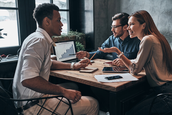 group of people consulting